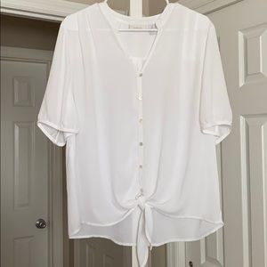CHICO's Front Tie Blouse